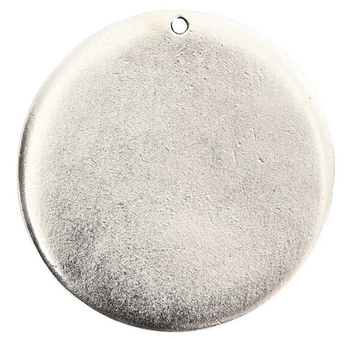 "1 Antiqued Silver 32mm (1 1/4"") Grande Blank Flat Stamping Tag"