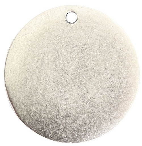 "1 Antiqued Silver 20.6mm (0.81"") Small Blank Flat Stamping Tag"