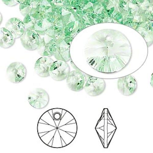 12 Swarovski 6mm Xilion Rivoli Chrysolite Crystal Beads (6428)*