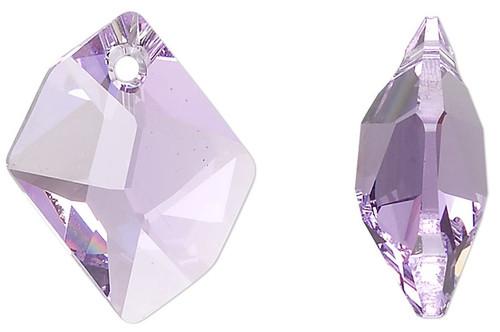 1 Swarovski 20x16mm Violet Faceted Cosmic Crystal Pendant (6680)