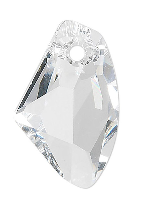 1 Swarovski 19x11mm Crystal Clear Faceted Galactic Vertical Pendant (6656).