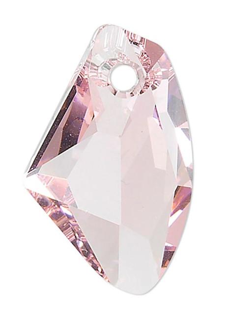 1 Swarovski 19x11mm Crystal Lt Rose Faceted Galactic Vertical Pendant (6656).
