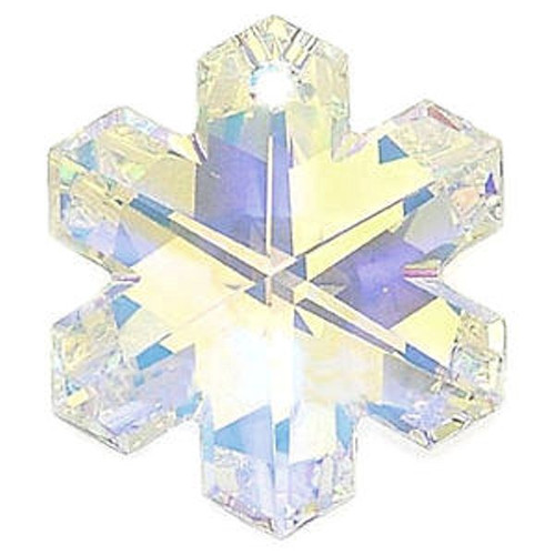 1 Swarovski AB Crystal Clear 20x17mm Snowflake Pendant (6704)