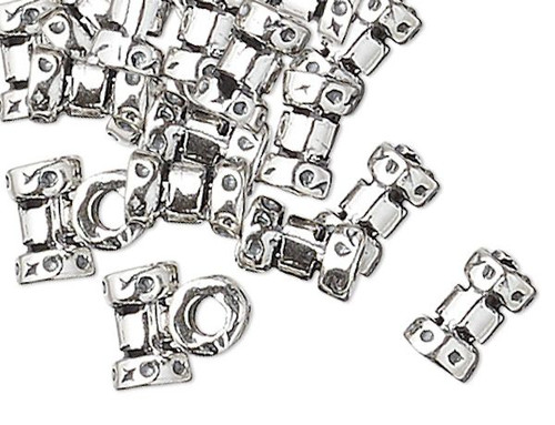 10 Sterling Silver 4x2.5mm Crimp Beads with 1mm ID