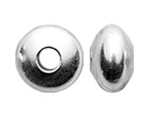 100  Sterling Silver 3.3x2.1mm Saucer Beads