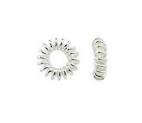 10 Sterling Silver 5.5mm Groove Ring Beads with 2mm Hole