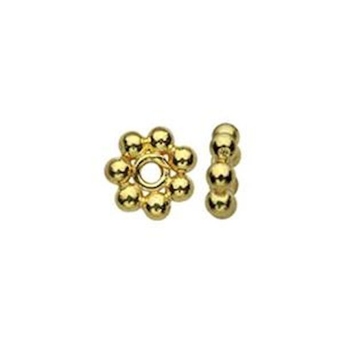10 Gold Plated Sterling Silver 1.2x4.5mm Heishe Beads with 0.7mm Hole