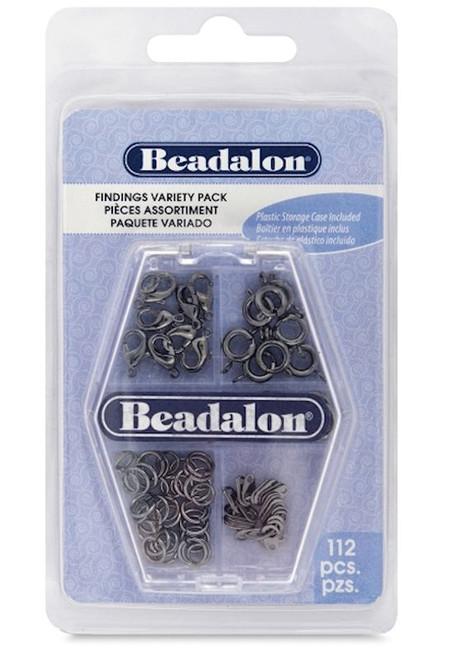 112 Piece Beadalon Gunmetal Hematite Finding Assortment