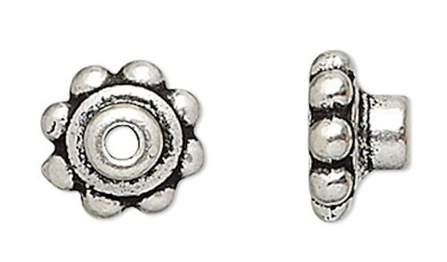 10 Antiqued Silver Plated Pewter Bead Aligners & Hole Adaptors To Stop Wobbles