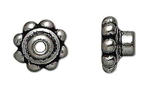 10 Gunmetal Plated Pewter Bead Aligners & Hole Adaptors To Stop Wobbles *