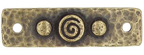1 TierraCast Antiqued Gold Plated Pewter 39.5x11mm Rectangle Link