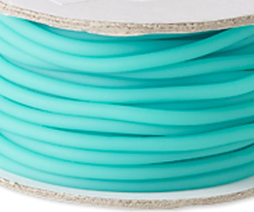 10 Meter Spool Solid Synthetic Rubber Seafoam 3mm Beading Cord