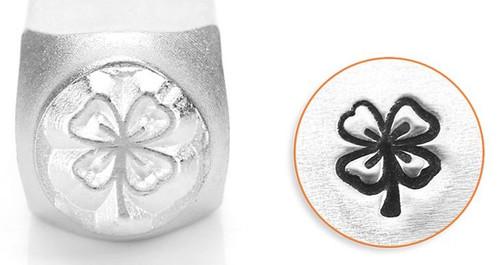 1 ImpressArt Carbon Tool Steel  6mm  FOUR LEAF CLOVER Metal Stamp Punch