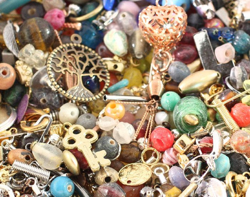 1 Pound Multi Shapes & Colors Bead & Findings Treasure Mix A