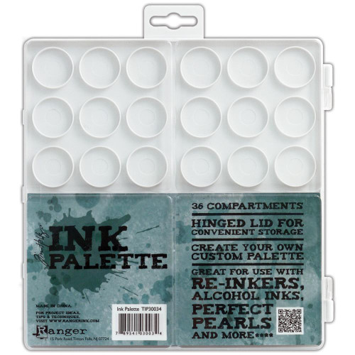 1 Tim Holtz Ink Palette with 36 Individual Compartments
