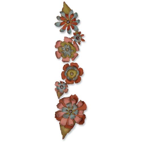 1 Sizzix Sizzlits Decorative Strip Die By Tim Holtz Tattered Flower Garland *
