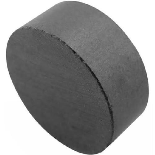 "10 Dark Grey 3/4"" x 3/16"" Ceramic Disc Magnets"
