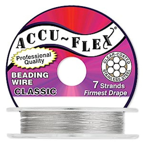 "100 Foot Spool Accu-Flex 7 Strand Clear 0.024"" Diameter Beading Wire"