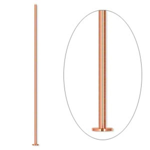 100 COPPER 2 Inches Long  21 Gauge Headpins