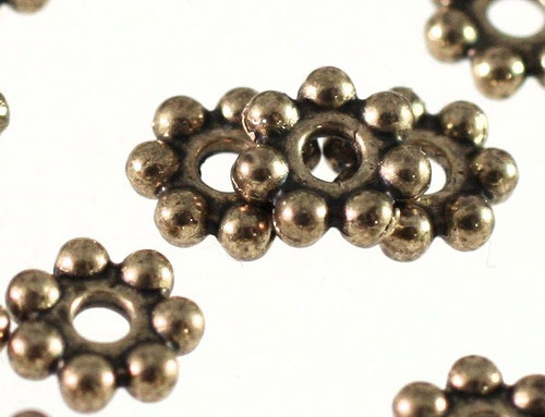 1 Strand (240) Antiqued Gold Plated Pewter 4x1.5mm Daisy Spacer Beads *