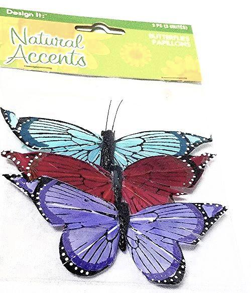 """Natural Accents 3 Medium 3.5"""" Butterflies Papillons by FloraCraft"""