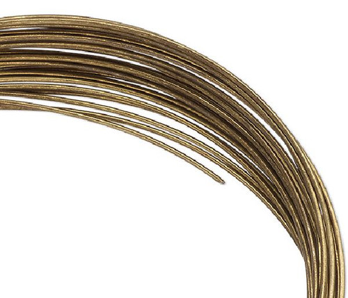 0.35 OZ Antiqued Brass Plated Carbon Steel 2-1/2 x 1-3/4 Inch Oval Memory Wire Bracelets *
