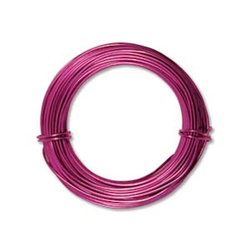 39 Feet Fuchsia 18 Gauge Aluminum Wire for Wire Wrapping