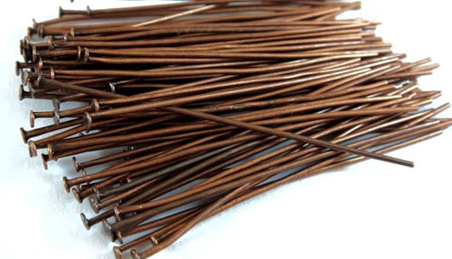 144 Antiqued Copper Plated 24 Gauge 2 Inches Long Headpins