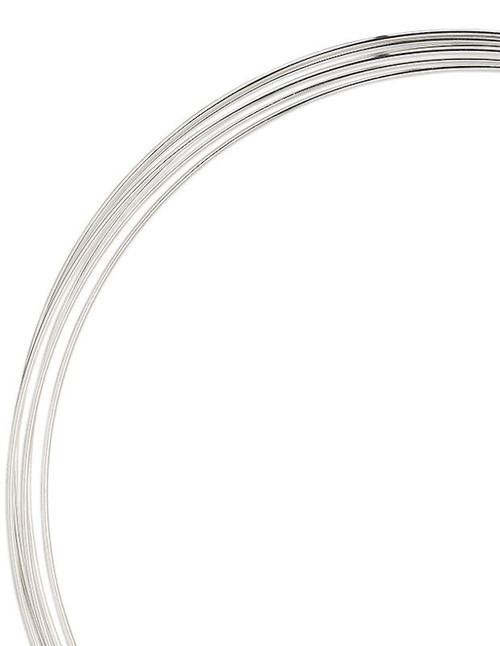 "0.50 Ounce Silver Carbon Steel HEAVY DUTY Memory Wire 4 5/8"" Round Necklace"