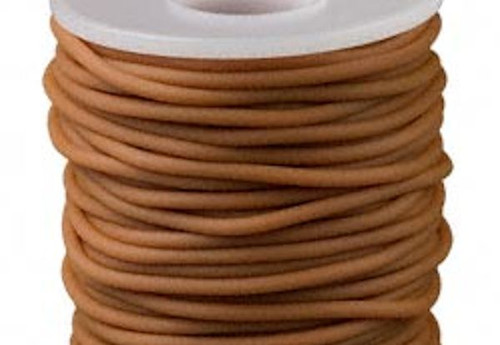 25 Meter Spool (82 feet) BEIGE Solid Rubber 2.5mm Beading Cord ~ Great for Pendants