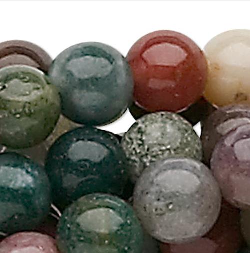 1 Strand Natural Fancy Jasper 8mm Round Gemstone Beads