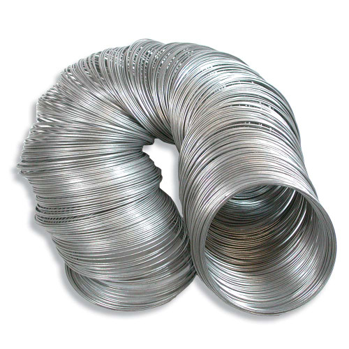 "5 Ounces(1200+) Rustproof Stainless Steel Memory Wire Large 2 1/4"" Round Bracelet Loops"