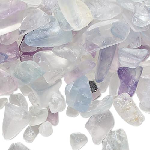 2 Ounce Gemstone RAINBOW FLUORITE Natural Mini Inlay Chips UNDRILLED Embellishment