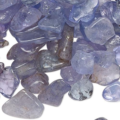 10 Grams Gemstone TANZANITE (H) Small Inlay Chips UNDRILLED Embellishment