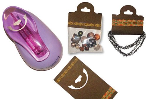 1 Foldover Hang Tag Display Punch to Make Your Own Necklace, Bracelet Display Cards!