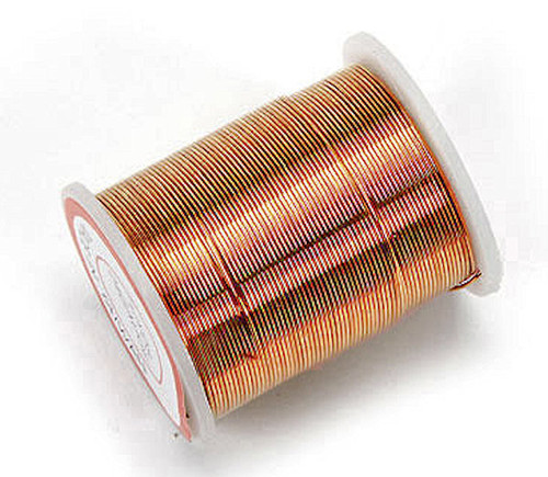 17 Yard Spool Copper 24 Gauge Round Beading Wire *