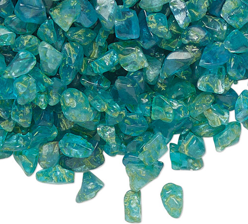 1 Ounce Gemstone Neon APATITE Natural Mini Inlay Chips UNDRILLED Embellishment