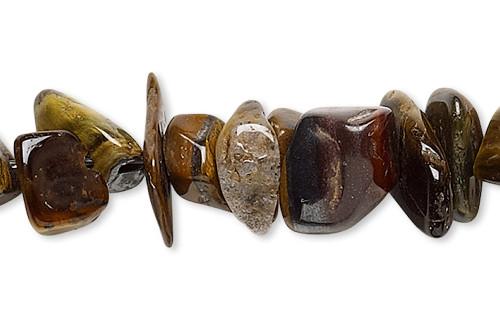 1 Strand Brown & Gold Tigereye Natural Medium Chip Beads *