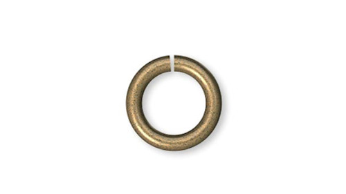 100 Antiqued Gold Plated Brass 6mm Round 20 Gauge Jumprings with 4.4mm ID