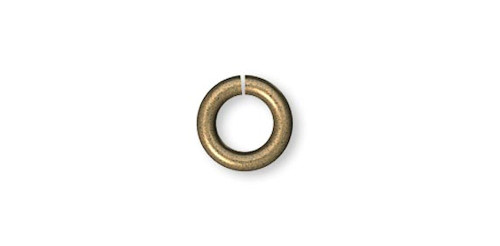100 Antiqued Gold Plated Brass 20 Gauge 4mm Round JumpRings with 2.4mm ID