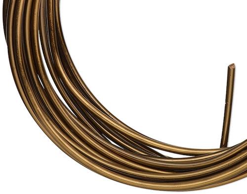 10 Feet Tarnish Resistant Vintage Bronze 14 Gauge Round Wrapping Wire