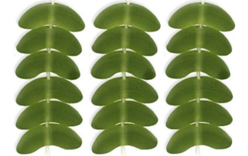 50 Czech Pressed Glass Matte Olivine Green 10x4x4mm Angel Wings Beads *