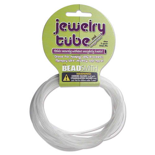 5 Yards Clear Rubber Cord Jewelry Tube to Cover Memory Wire