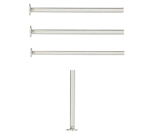 50 Stainless Steel 1 Inch Long 21 Gauge Standard Headpins