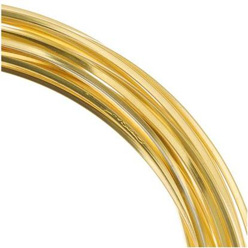 4 Yards Gold Non Tarnish Square Wrapping Wire  ~ 21 Gauge