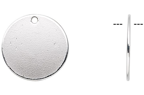 100 Silver Plated Disc Coin Drop 12mm Round Charms ~Great for Metal Stamping