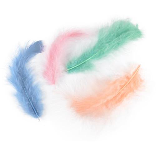 """0.25 Oz Large Designer Marabou Feathers ~ Approximately 3-8"""" Long"""