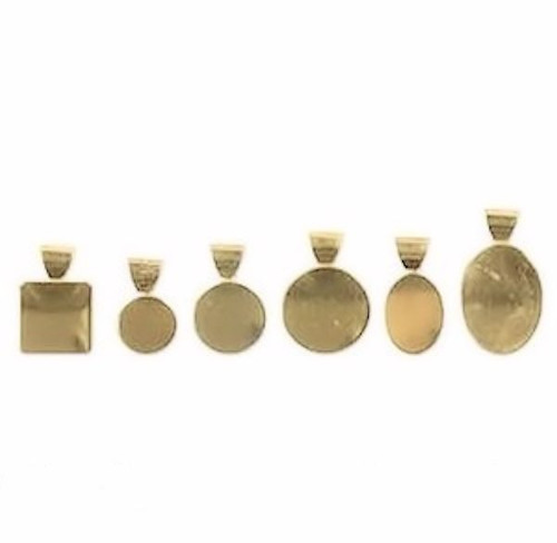 12 Gold Plated Brass Patera Bail Plate Mix ~ 2 of Each Style *