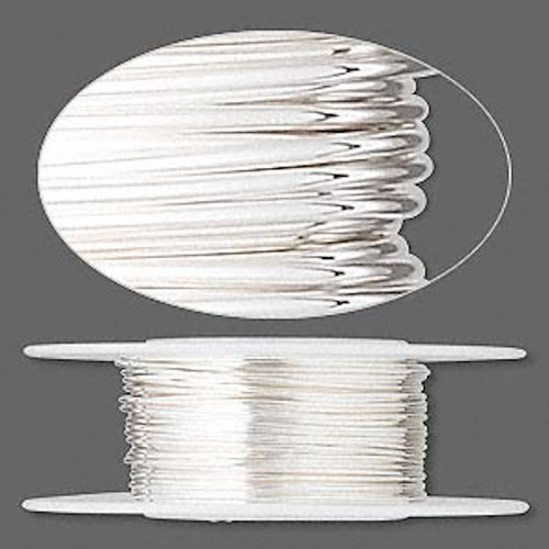 25 Foot Spool Sterling Silver 22 Gauge Dead Soft Round Wrapping Wire `
