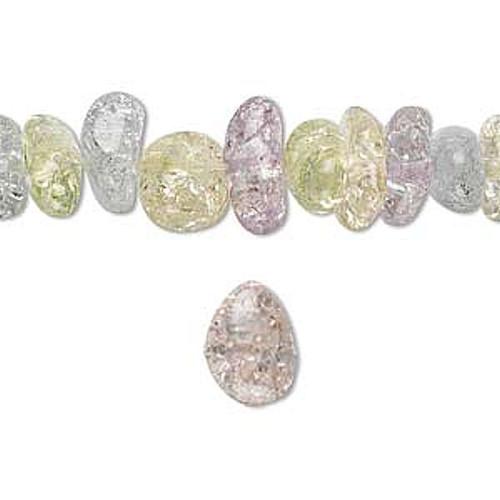 1 Strand Ice Flake Quartz Medium 5-13mm Chip Gemstone Beads